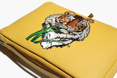 Città Alta - Soleil Leather/Tiger - Computer Sleeve