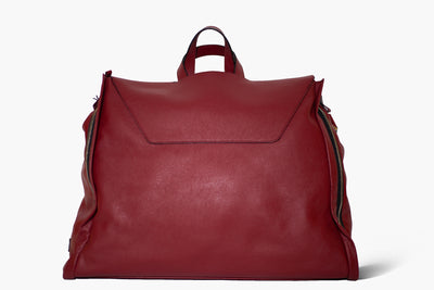 Betta - Bordeaux Leather/Japan - Garment Weekender