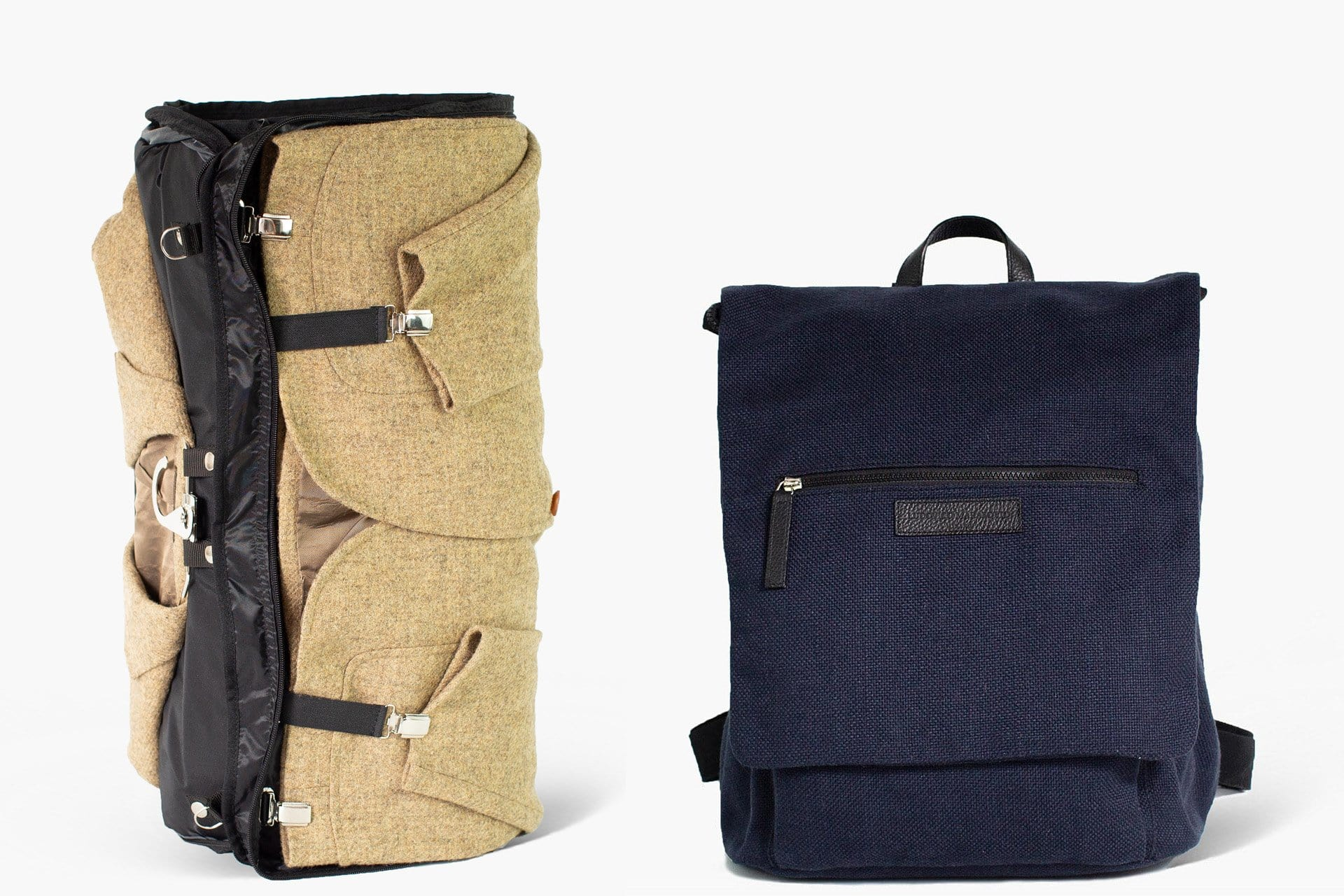 Suit Garment Backpack bag with an extractable travel rolling garment