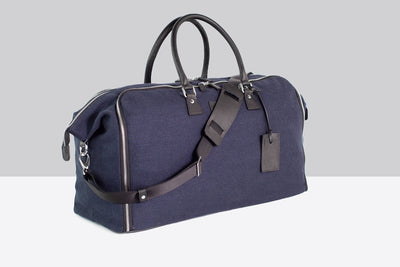 Travel Garment Weekender Bag wrinkle-free - Borsa porta abiti - Flamingo Blu Linen