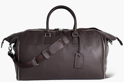 Travel Garment bag luggage wrinkle-free - Borsa porta abiti - Flamingo Brown Leather