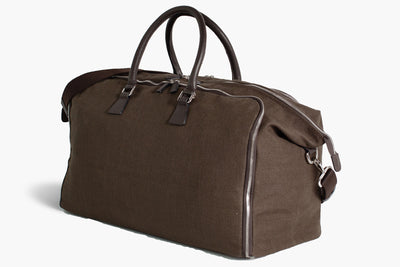 Travel Garment Weekender Bag wrinkle-free - Borsa porta abiti - Flamingo Brown Linen