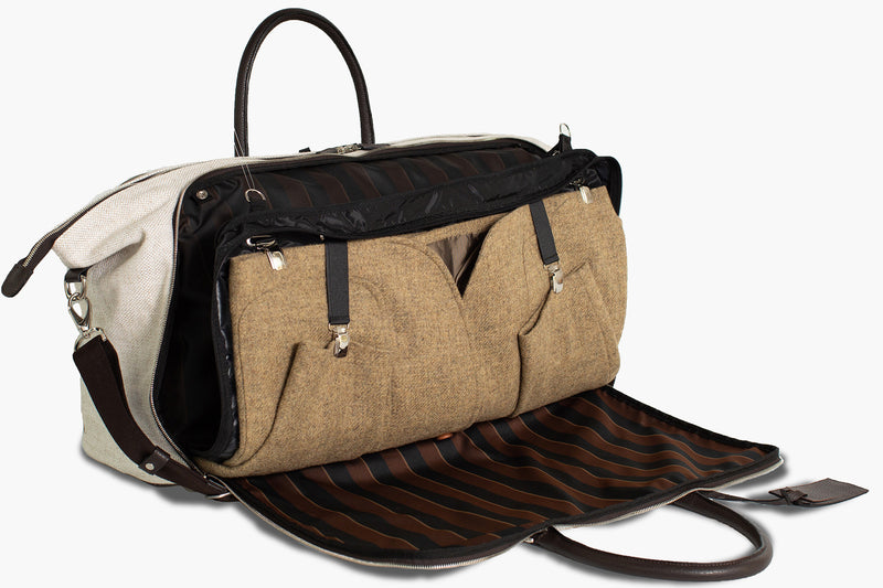 Travel Garment Duffle Bag wrinkle-free - Borsone porta abiti - Flamingo Natural Linen