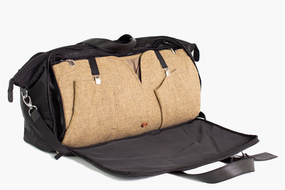 Suit carrier holdall with a patented Garment Bag
