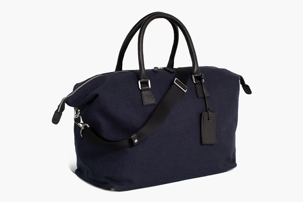 Weekender Bag Latone - Lino Blu/Regimental