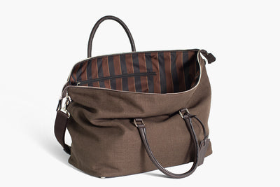 Gym bag Linen & Leather - Ludovico Marabotto