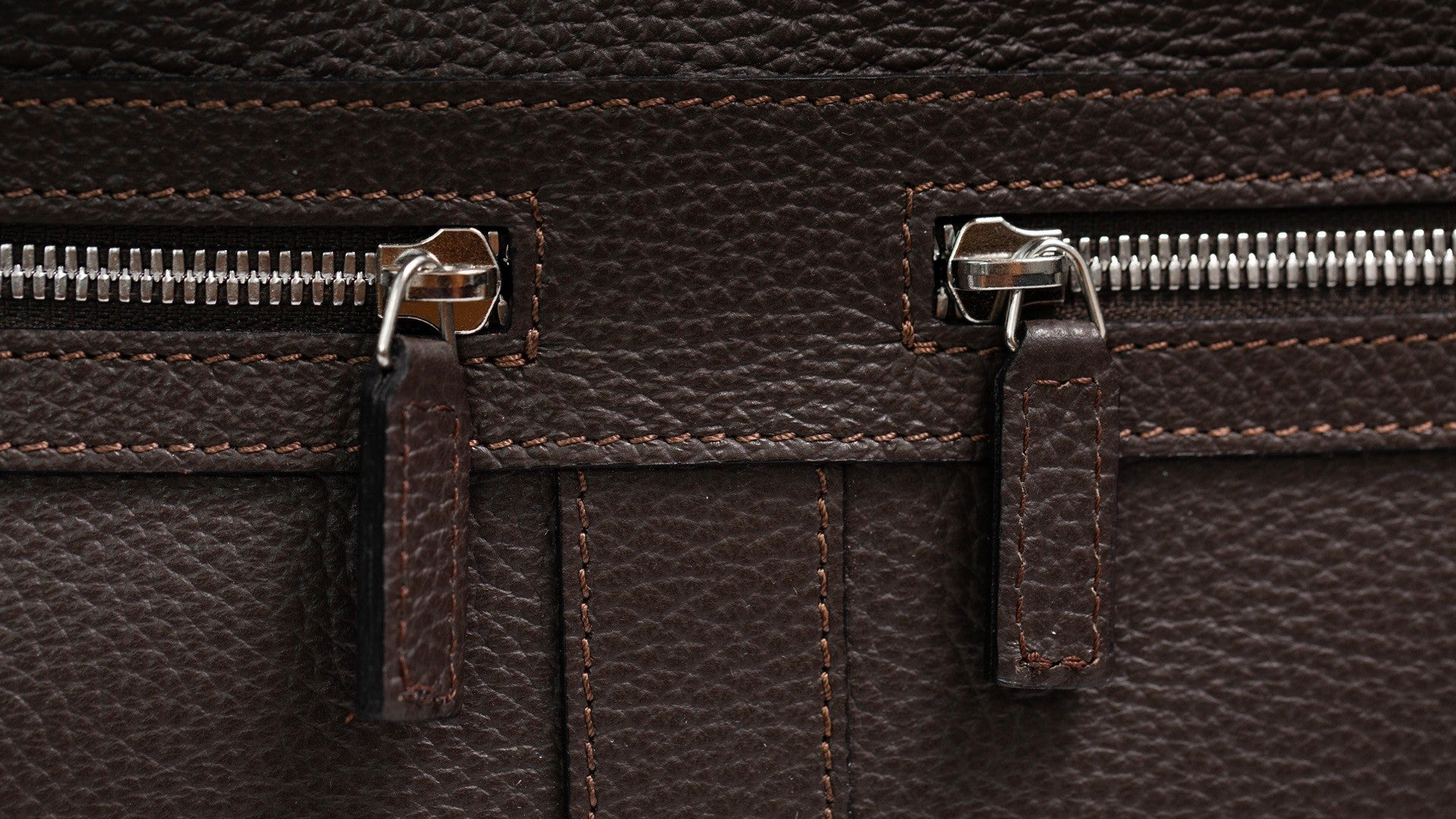 Briefcase Sestriere - Brown Leather/Jacquard