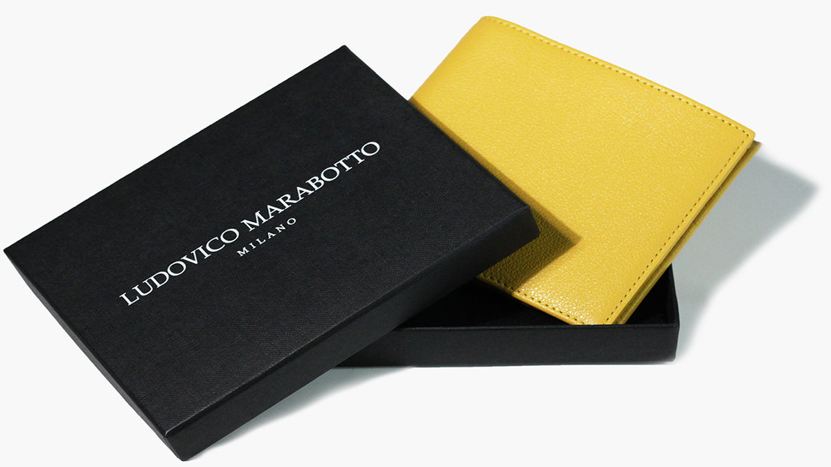 Classic wallet with double compartment for banknotes