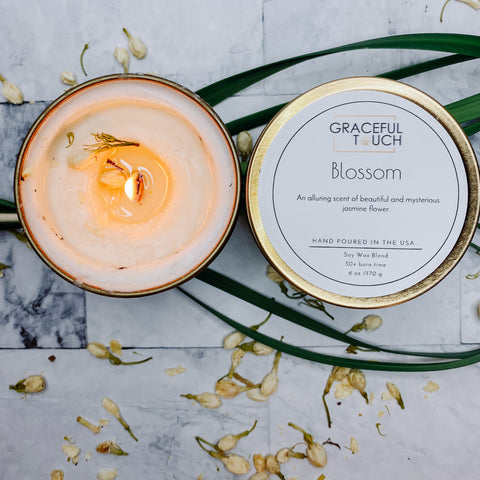 Blossom Soy wax woodwick candle | Mindfulness