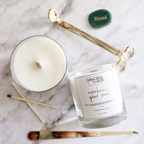 Awaken Your Soul | Eucalyptus Scented Candle- WITHOUT WHITE BOX