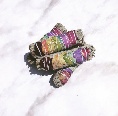 Sage Smudge Kit | Sage with Rose Petals