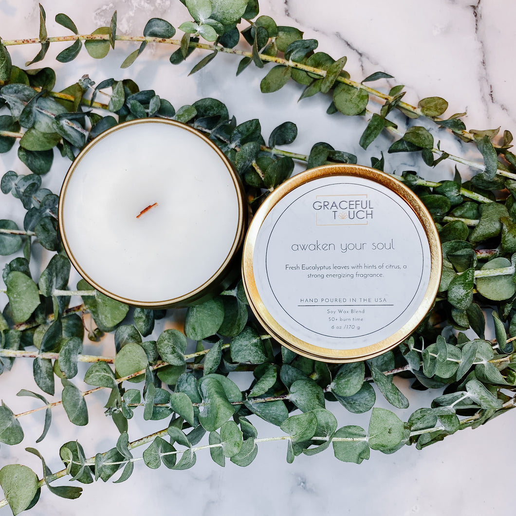 awaken your soul | Eucalyptus Scented Candle
