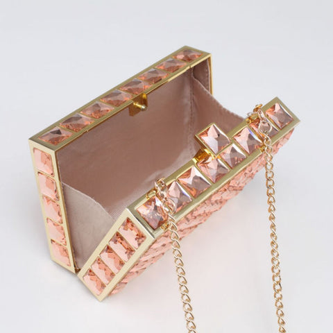 Izzy and Ali Jewel Box Clutch Evening Bag -  RHEAS.ONLINE