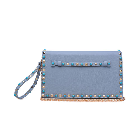 Urban Expressions Turquoise Studded INDIE Clutch Cross Body Clutch -  ID You & Co.