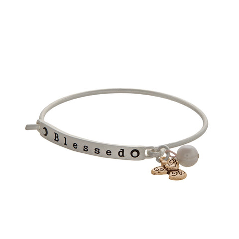 Matter Silver Blessed Bracelet with charms -  ID You & Co.