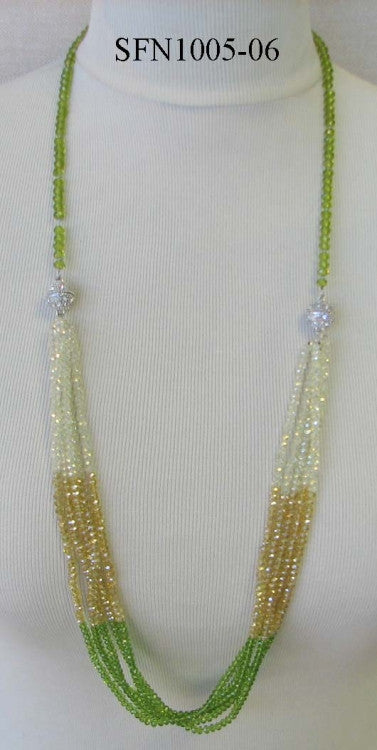 Magnetic Two Section Beaded Necklace -  RHEAS.ONLINE
