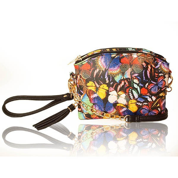 Butterfly Bryn Cross Body Mini Bag Clutch with Tassel by Imoshion -  ID You & Co.