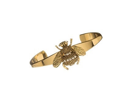 Crystal Bee Bangle by Yochi Jewelry -  RHEAS.ONLINE