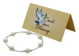 Count Your Blessings Bracelet, White Pearl -  ID You & Co.