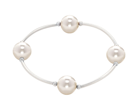 Blessing Bracelets by Count Your Blessings Bracelet, White Swarovski Pearl -  ID You & Co.