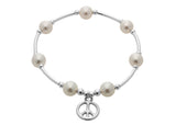 Count Your Blessings Bracelet, Pearl & Charm -  ID You & Co.