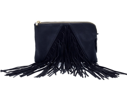 FRINGED CLUTCH BY IMOSHION -  RHEAS.ONLINE