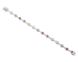 Rainbow Cubic Zirconia Tennis Bracelet -  ID You & Co.