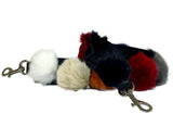 Multi Color Fur Ball Guitar Strap by INZI Handbags -  ID You & Co.