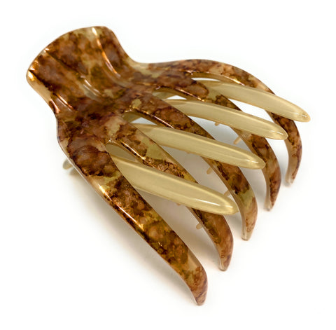 Medusa's Heirlooms Large French Yoga Clip Gilded Leaf