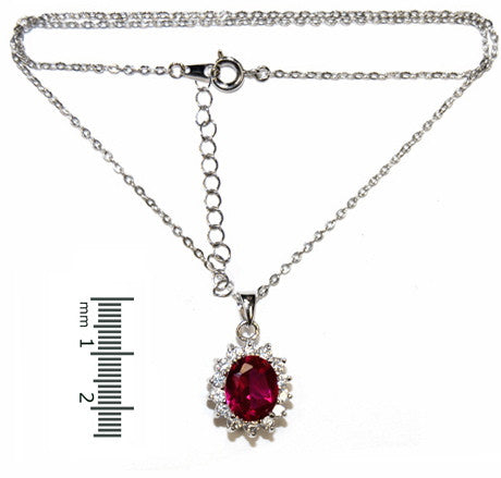 Cubic Zirconia & Ruby Pendant -  ID You & Co.