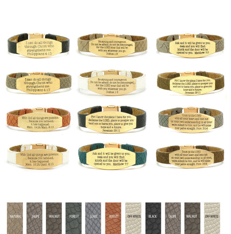 GOOD WORKS CONA SCRIPTURE PRAYER BRACELET -  ID You & Co.