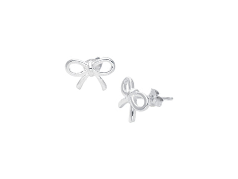 STERLING SILVER BOW EARRINGS -  RHEAS.ONLINE
