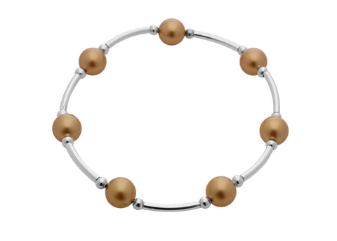 Count Your Blessings Bracelet, Gold Pearl -  ID You & Co.