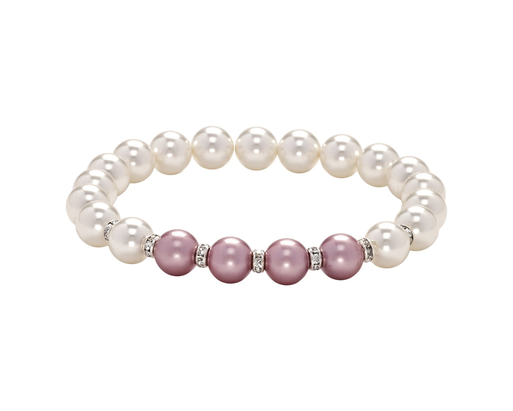 Count Your Blessings Two Tone Swarovski Pearl & Crystal Bracelet -  ID You & Co.