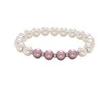 Count Your Blessings Two Tone Swarovski Pearl & Crystal Bracelet