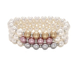 Count Your Blessings Two Tone Swarovski Pearl & Crystal Bracelet -  RHEAS.ONLINE