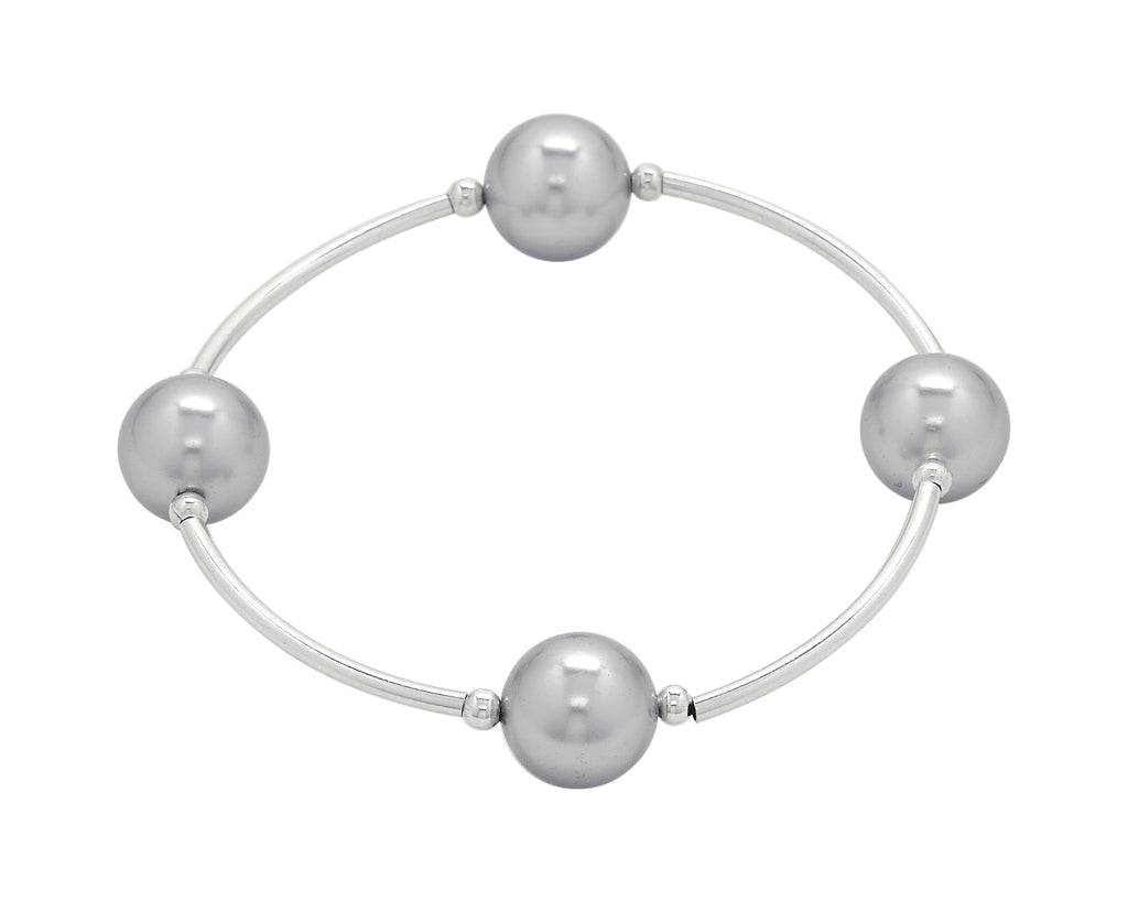 Count Your Blessings Bracelet, Silver 12mm Swarovski (4 Bead)