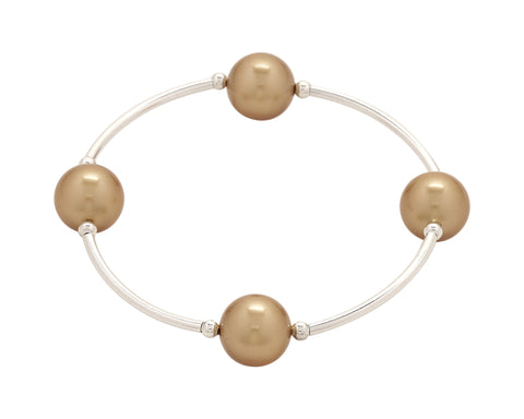 Count Your Blessings Bracelet, Gold 12mm Swarovski (4 Bead) -  RHEAS.ONLINE