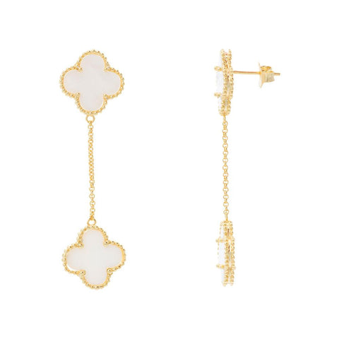 TWO CLOVER EARRINGS -  RHEAS.ONLINE