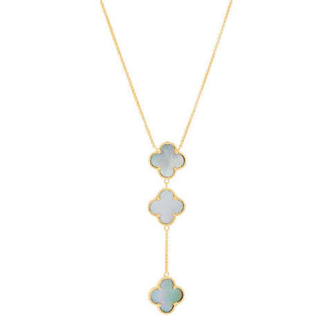THREE CLOVER NECKLACE -  RHEAS.ONLINE