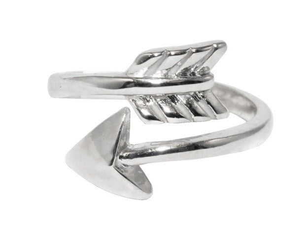 PI BETA PHI SILVER ARROW RING, ADJUSTABLE -  ID You & Co.