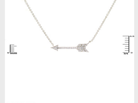 Pi Beta Phi Silver Bling Crystal Arrow Charm Necklace, Nickel Free -  ID You & Co.