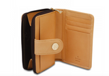 Rioni Signature Small Zipper Button Wallet STW064 -  RHEAS.ONLINE