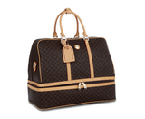 Rioni Brown Signature Duffel Dome Traveler  Geneva ST20051
