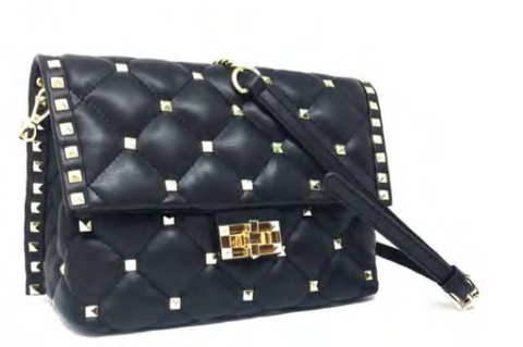 DESIGNER  STUDDED QUILTED HANDBAG BY INZI HANDBAGS -  ID You & Co.