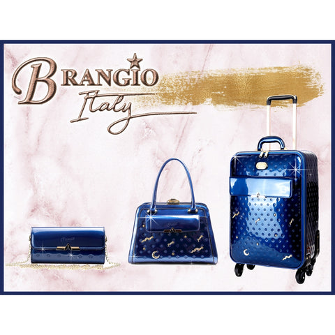 BRANGIO 3 PC LUGGAGE SET PATENT METEOR SKY CRYSTAL BLUE -  RHEAS.ONLINE