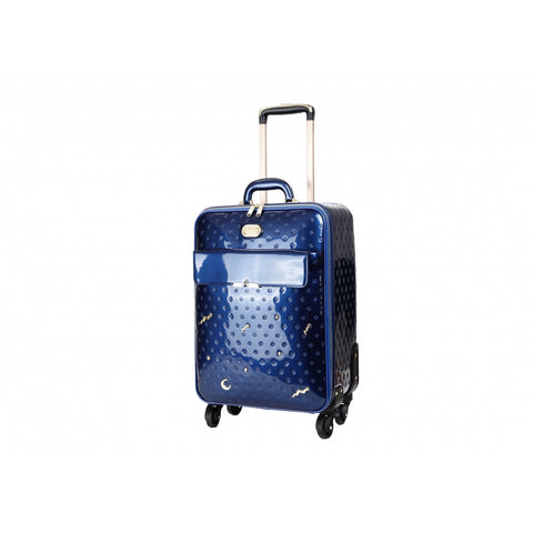 BRANGIO PATENT METEOR SKY CRYSTAL CARRY ON SPINNER LUGGAGE SET, HANDBAG & WALLET, BLUE -  ID You & Co.