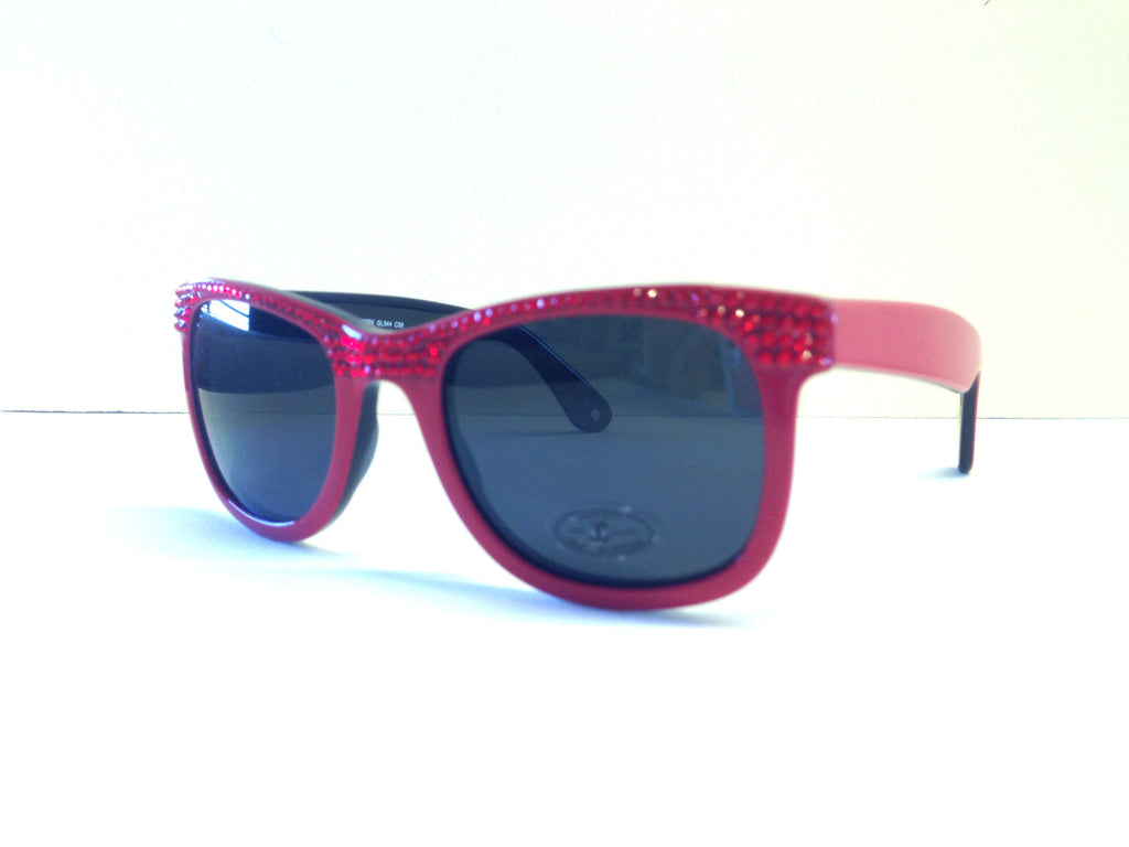 Jimmy Crystal Classic Red Swarovski Crystal Sunglasses, GL944A Red -  ID You & Co.