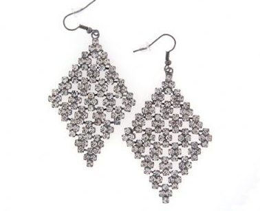 Swarovski Crystal Diamond Shape Chandelier Earrings -  ID You & Co.