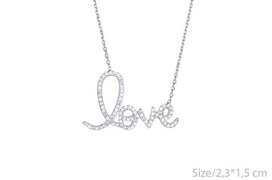 CZ LOVE Necklace -  ID You & Co.